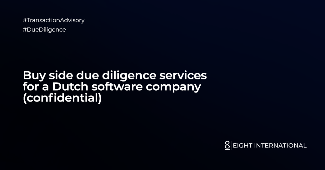 Buy side due diligence services for a Dutch software company (confidential)