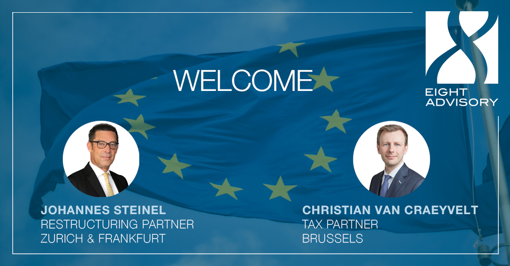 Eight International with two new Partners in Germany, Switzerland and Belgium
